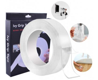 Двухсторонняя клейкая лента многоразовая 3 метра  Ivy Grip Tape, крепежная лента