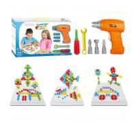 Детский развивающий конструктор Tu Le Hui Creative Puzzle 4в1 чемодан 193 детали