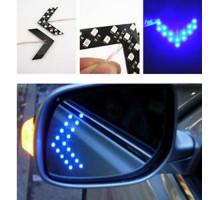 LED указатели поворота зеркала заднего вида, синие, пара