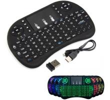 Беспроводная мини клавиатура + тачпад Rii mini i8 c RGB-подсветкой и АКБ