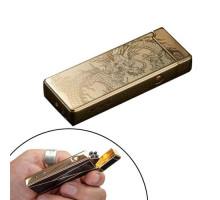 USB зажигалка электронная импульсная 2 дуги Lighter золотой дракон