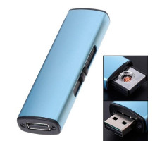 USB зажигалка электронная Спираль, алюминий
