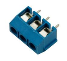 Клеммная колодка на 3 контакта, шаг 5мм KF301-3P