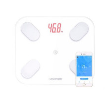 Смарт весы напольные Bluetooth Smart диагностические умные GASON S4, белые