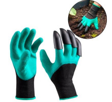 Перчатки для садоводства и огорода с когтями, резиновые