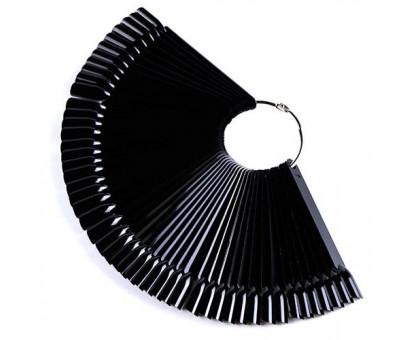 Палитра веер на кольце для 50 образцов лака дизайна ногтей, черная