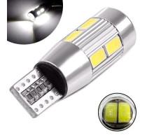 LED T10 W5W лампа в автомобиль, 10 SMD5630 с обманкой CANBUS