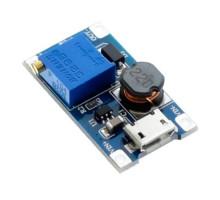 Повышающий преобразователь напряжения DC-DC MT3608 до 28В с MicroUSB вх