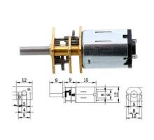 Мотор редуктор микро моторчик 12GAN20 100об/мин 6В