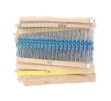 600x Резистор 1/4Вт MF 1% 10Ом-1МОм, набор