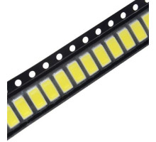 100x 5630 5730 SMD LED 3В 0.5Вт 50-55лм светодиод, белый