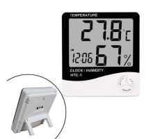 Термометр гигрометр цифровой -10~50C ЖК 3.8\'\' термогигрометр HTC-1