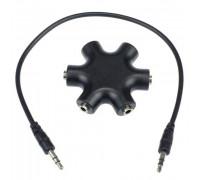 Аудио сплиттер наушников, хаб на 6 разъемов под 3.5мм джек