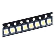 100x 3528 SMD LED 3В 0.2Вт 21-23лм светодиод, белый