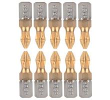 10x Насадка бита PH2 PH 2 25мм для шуруповерта 6-гранная крестообразная