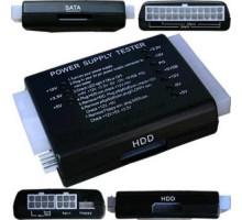 Тестер блоков питания ATX, BTX, ITX, PSU 20/24pin SATA Molex для ПК