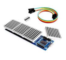 Светодиодная матрица из 4 матричных дисплеев на MAX7219 MAX7221 Arduino